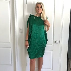Acne studio 100% silk green dress